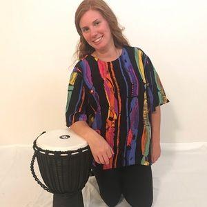 Christine David Colorful, Fun, Unique Blouse ⭐️